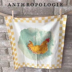 Anthropologie Check Chicken Tea Towel